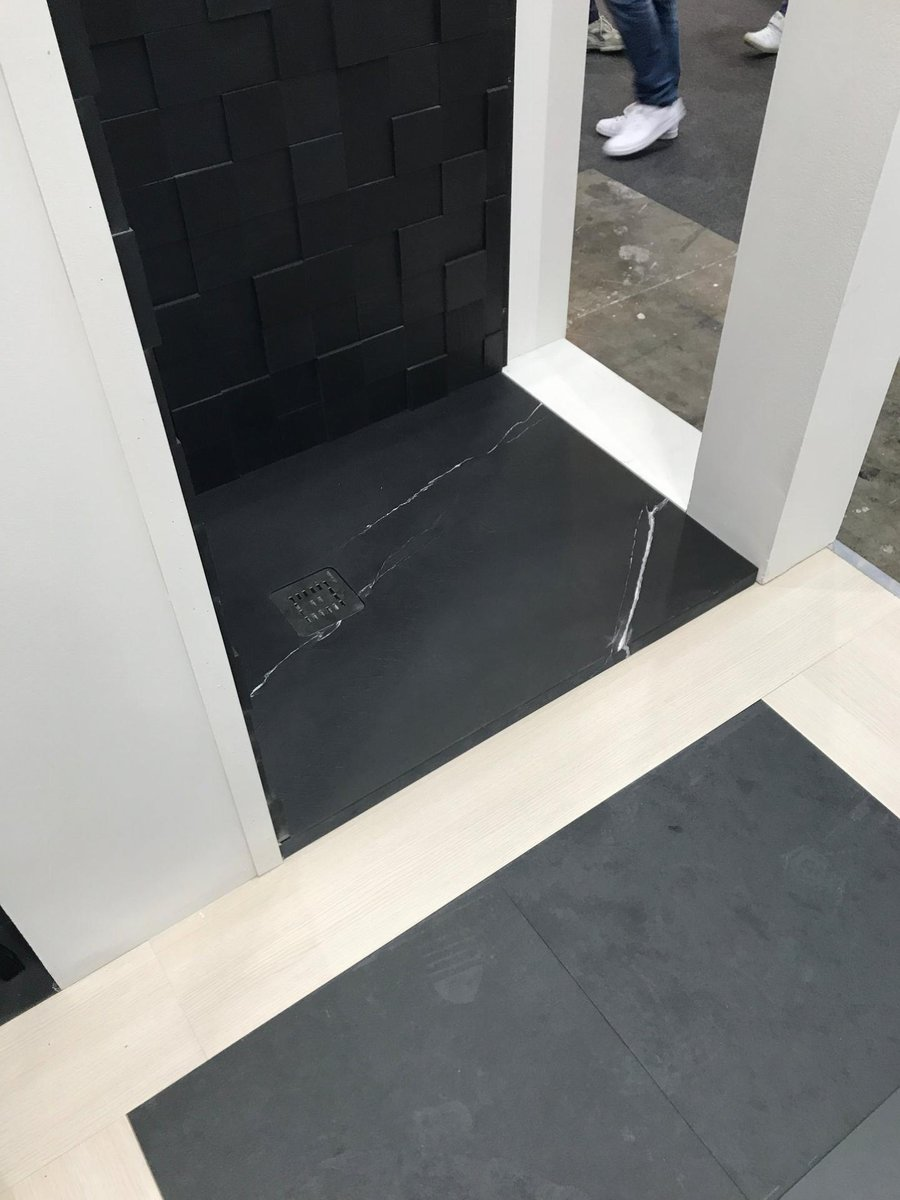 Slate Shower trays with non-slip finish